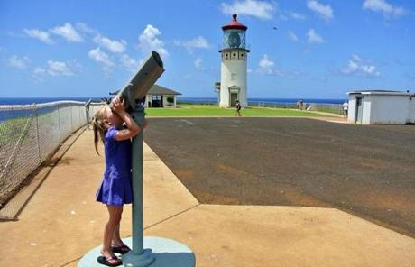 The century-old Kilauea Lighthouse marks the northernmost point in the Hawaiian Islands.