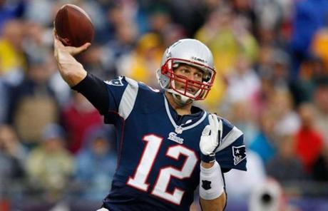 Tom Brady took aim in the first quarter.