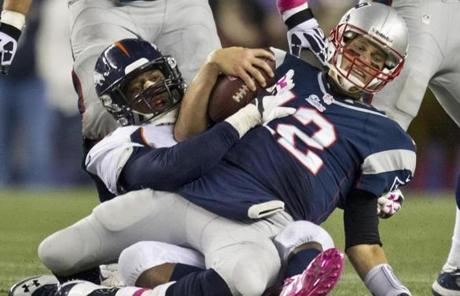Tom Brady was sacked by Von Miller.