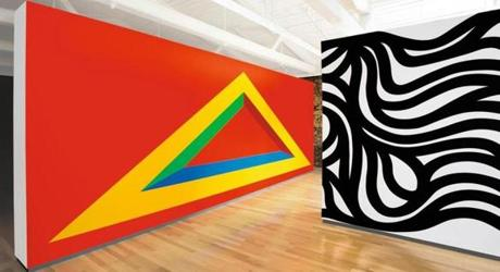 "Wall drawings ""#146A,"" ""#999,"" ""#1005"" at Massachusetts Museum of Contemporary Art."