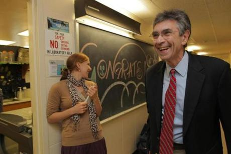 Dr. Robert Lefkowitz arrived at his office at Duke University Wednesday.