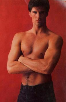 A bare-chested Brown posed for Cosmopolitan in June 1982, when he won the magazine's
