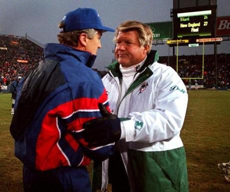 But the 1997 season turned around when Carroll led the Patriots to a 27-24 win over Jimmy Johnson's Dolphins in November. The Patriots would win three of their final four games to claim the division title with a 10-6 record.