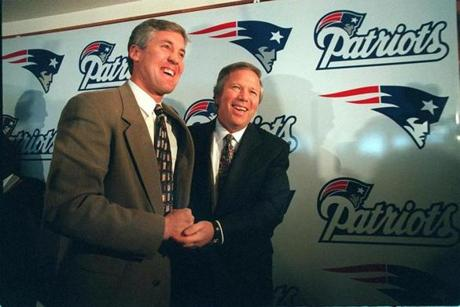 Carroll arrived in New England on Feb. 3, 1997 as the replacement for the departed Bill Parcells. Team owner Robert Kraft handed him a team that had just lost to the Packers in Super Bowl XXXI.