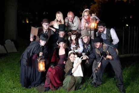 Ghosts and Gravestones Cast.