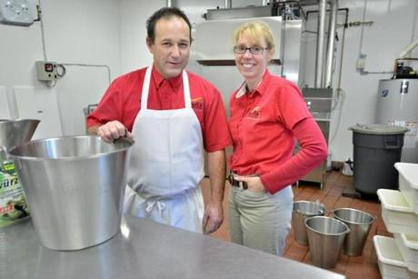 Robert Hans Gokey and his wife, Anita, produce almost 350 pounds of sausages a week.