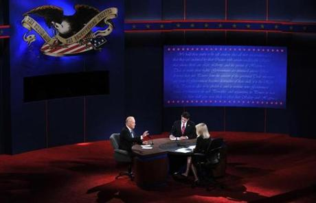 The debate began with a discussion on  foreign policy.