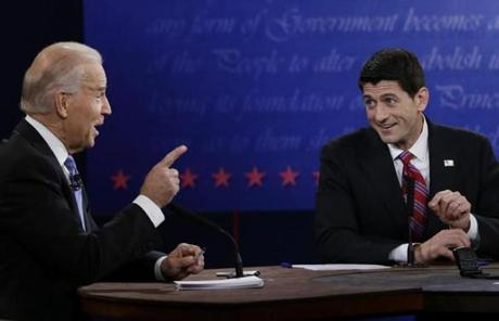 Joe Biden and Paul Ryan's vice presidential debate on Thursday differed sharply from the first presidential debate.