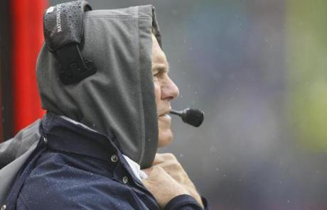 Bill Belichick and the Patriots led 23-10 early in the fourth quarter.
