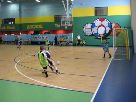 Fore Kicks in Marlborough has seven indoor fields for soccer, lacrosse, and other sports.