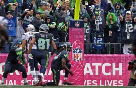 Seattle took the lead on a 46-yard touchdown to Sidney Rice with 87 seconds to play.