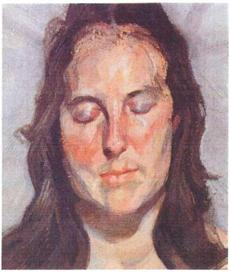 """Woman with Eyes Closed"" by Lucian Freud, 2002."