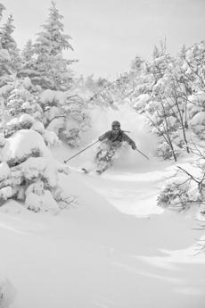 With an average of 333 inches of snow per year, Stowe often gets white stuff when southern New England has none