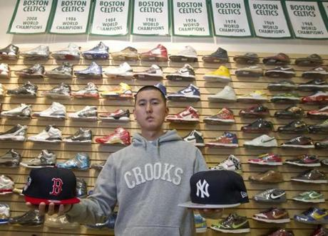 Joon Son, owner/operator of At The Buzzer, sells limited-edition athletic footwear on consignment.