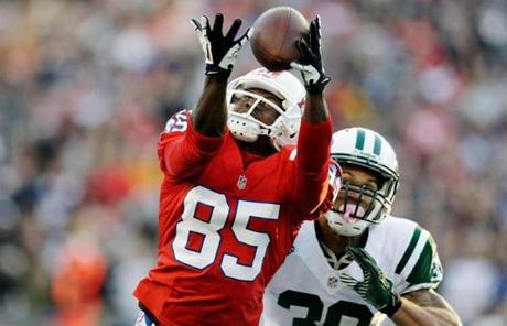 Wide receiver Brandon Lloyd tried to catch a pass.