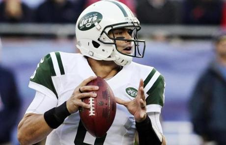 Mark Sanchez and the Jets were 3-3 on the year, the same record as the Patriots.