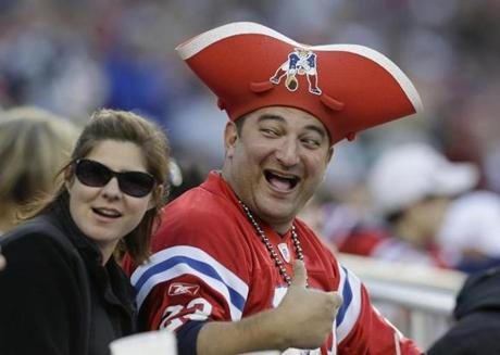 Many fans were decked out in their red Patriots throwback jerseys, which the team also wore.