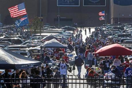 The day began with fans streaming into the parking lots for tailgate celebrations on a beautiful autumn afternoon.