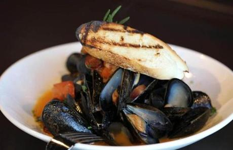 Mussels are another dish served at 75 on Liberty Wharf.