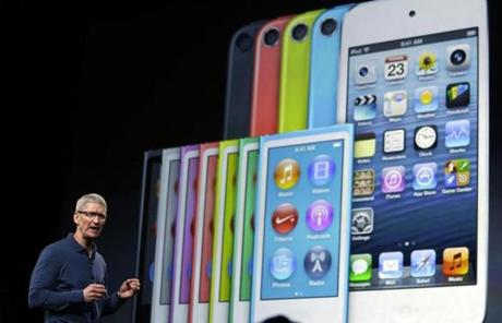 Apple CEO Tim Cook talked about the success of the iPhone 5 and the new iPod Touch.