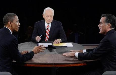 President Obama and Mitt Romney talked about a range of foreign affairs topics in a debate moderated by Bob Schieffer.