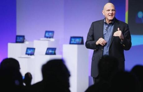 """What you've seen and heard should leave no doubt that Windows 8 shatters perceptions of what a PC is now,"" said Microsoft chief Steve Ballmer."