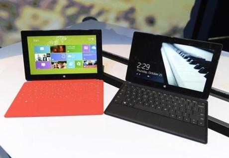 For now, the company's new Surface will be sold only in Microsoft's retail stores or online.