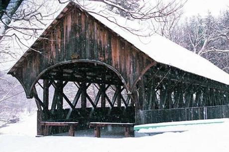 Artist's Covered Bridge in Bethel, Maine.