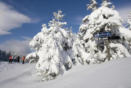 Sunday River offers 132 ski trails spread over eight mountain peaks, plus five terrain parks.