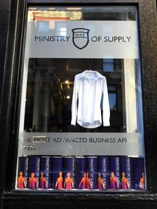 Boston, MA - 10/25/12 - A display window at Ministry of Supply. - (Barry Chin/Globe Staff), Section: g/lifestyle, Reporter: muther, Topic: kickfashion.