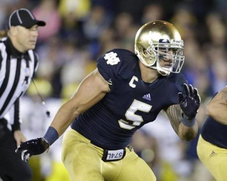 Linebacker Manti Te'o has 87 tackles this season, nearly twice as many as any of his Notre Dame teammates.
