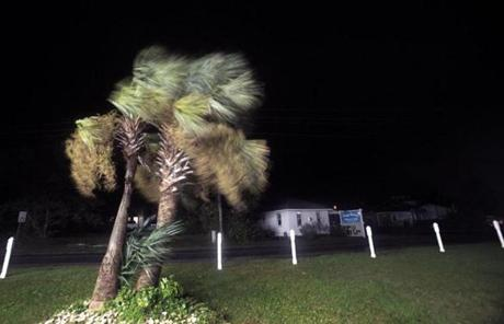 A steady wind from Hurricane Sandy swept through Hatteras Island, N.C.