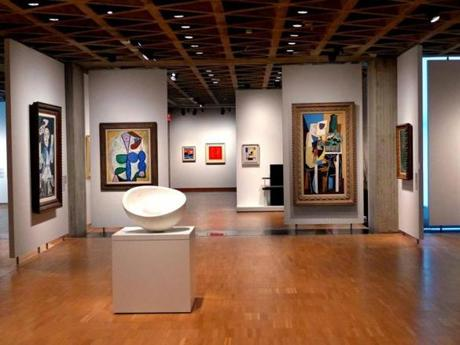 Modern art gallery in Yale University Art Gallery.