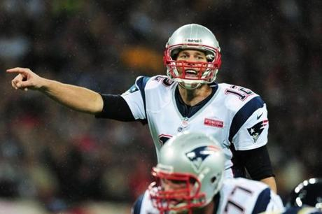 Patriots quarterback Tom Brady passed for 304 yards and four TDs during the game.