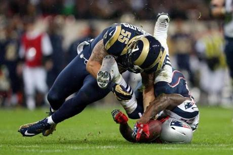 Rams linebacker James Laurinaitis stopped Ridley on one of the running back's 15 carries.