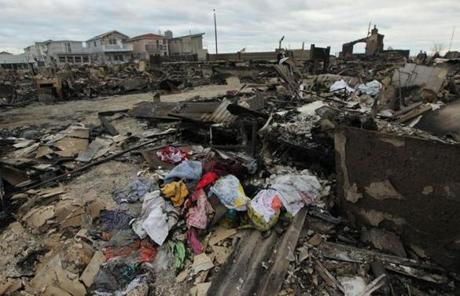Breezy Point, Queens, was left devastated after homes were destroyed by fire.