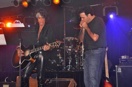 Aerosmith guitarist Joe Perry and Rudy Tanzi playing in DC.