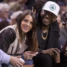 Boston, MA--11/2/2012 Boston Red Sox David Ortiz with is wife Tiffany sitting courtside duirng the Celtics and Milwaukee Bucks game at the TD Garden on Friday November 2, 2012 (Matthew J. Lee/Globe staff) Topic: Bucks-Celtics Reporter: Frank DeLlapa
