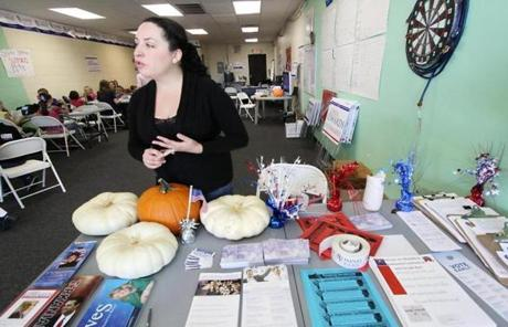 Elsa Barnhill heads Hispanic outreach for Mitt Romney out of the campaign office in East Las Vegas, Nev.