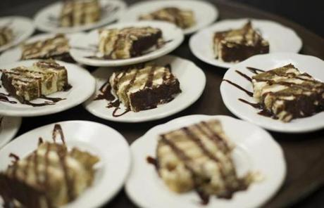 Sardella's Restaurant chef Kevin Fitzgerald uses kahlua in his tiramisu, the final bite on the Newport Gourmet Tour in Newport, Rhode Island, Saturday, Nov. 3, 2012. Gretchen Ertl for the Boston Globe