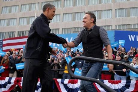 President Obama and Bruce Springsteen