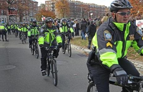 Boston Police were out in force during the concert.