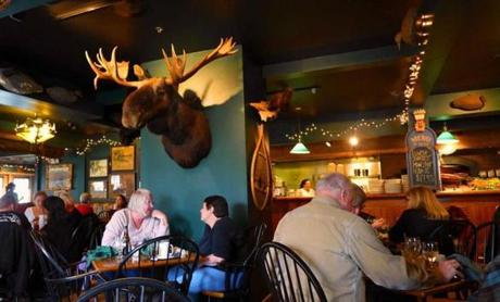 The lunch buffet at the Broad Arrow Tavern at Harraseeket Inn is popular with Freeporters and outlet-ers.