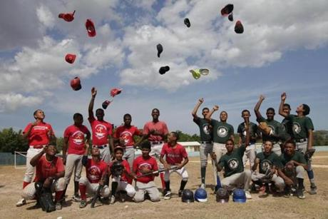 Forget soccer. In the Dominican Republic, baseball rules. Pedernales school teams do a hats-off before trotting onto the field for practice.