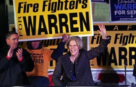 Elizabeth Warren spoke in West Roxbury.
