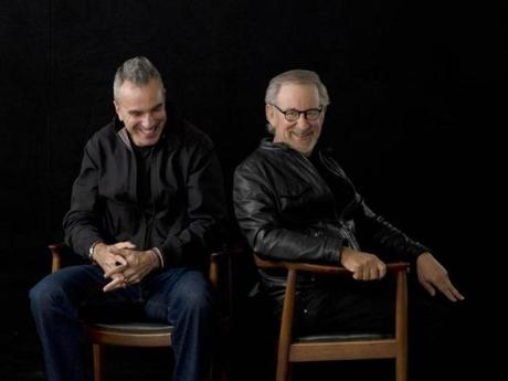 "Daniel Day-Lewis (left), who starred, and Steven Spielberg, who directed ""Lincoln,"" in New York in September."