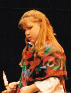 Ari Graynor as an 11-year-old inaWheelock Family Theatre role.