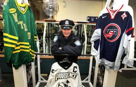 Before she became a Boston police officer, Stephanie O'Sullivan was a standout hockey player for Matignon High School, Providence College and the US national team.