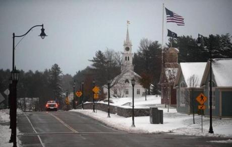 A layer of snow covers Norfolk after several inches fell overnight.