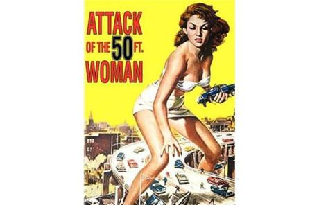 The 50-Foot Woman would break a leg if she took a single step, said LaBarbera, the author of
